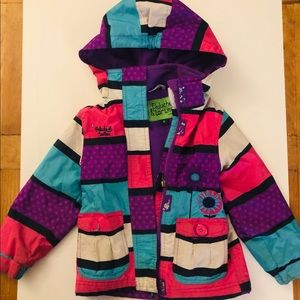 Girl Spring or Fall coat, very colorful! Size 3
